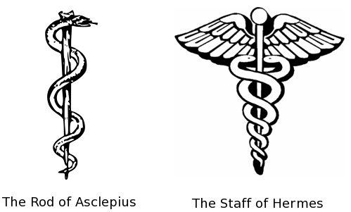 Rod of Asclepius and Hermes - inicio