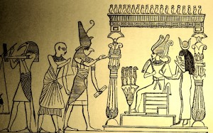 Amon Ra crook and staff,