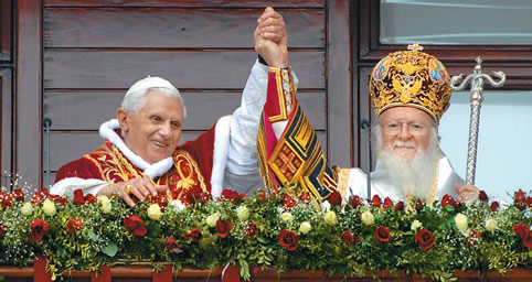 Pope benedict and Bartholomew I