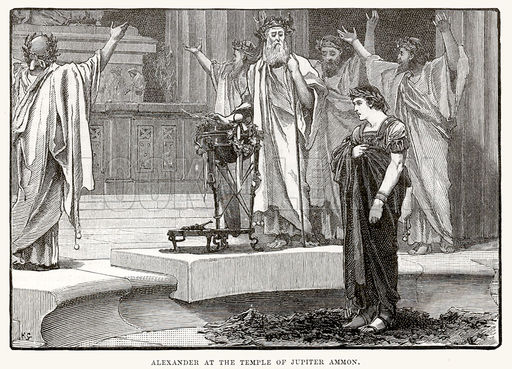 Alexander at the temple of Jupiter Ammon