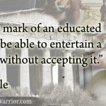 Aristotle Quote: Mark of an Educated Mind