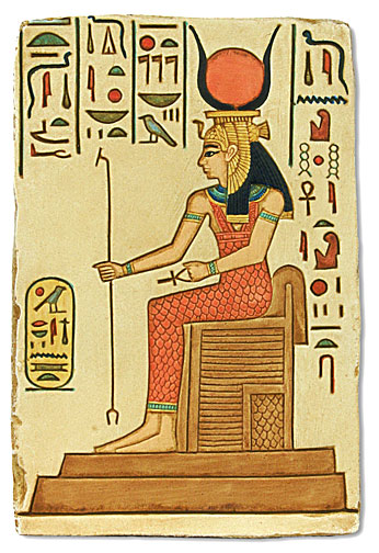 Symbols Isis on throne
