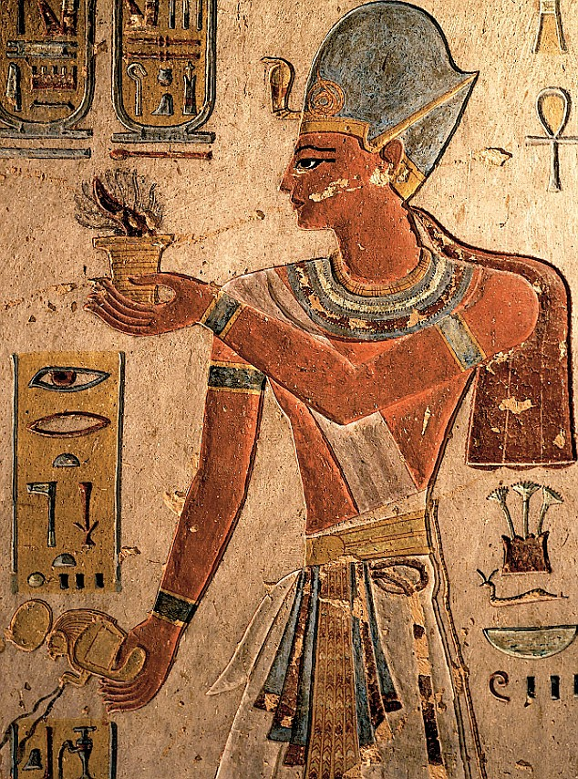 Tomb Of Seti I Wall Painting Isis