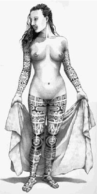 ancient tattoo woman