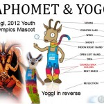 Baphomet and 2012 Olympic Mascot Yoggl