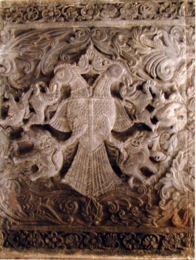 Double headed eagle Gandaberunda sculpture India