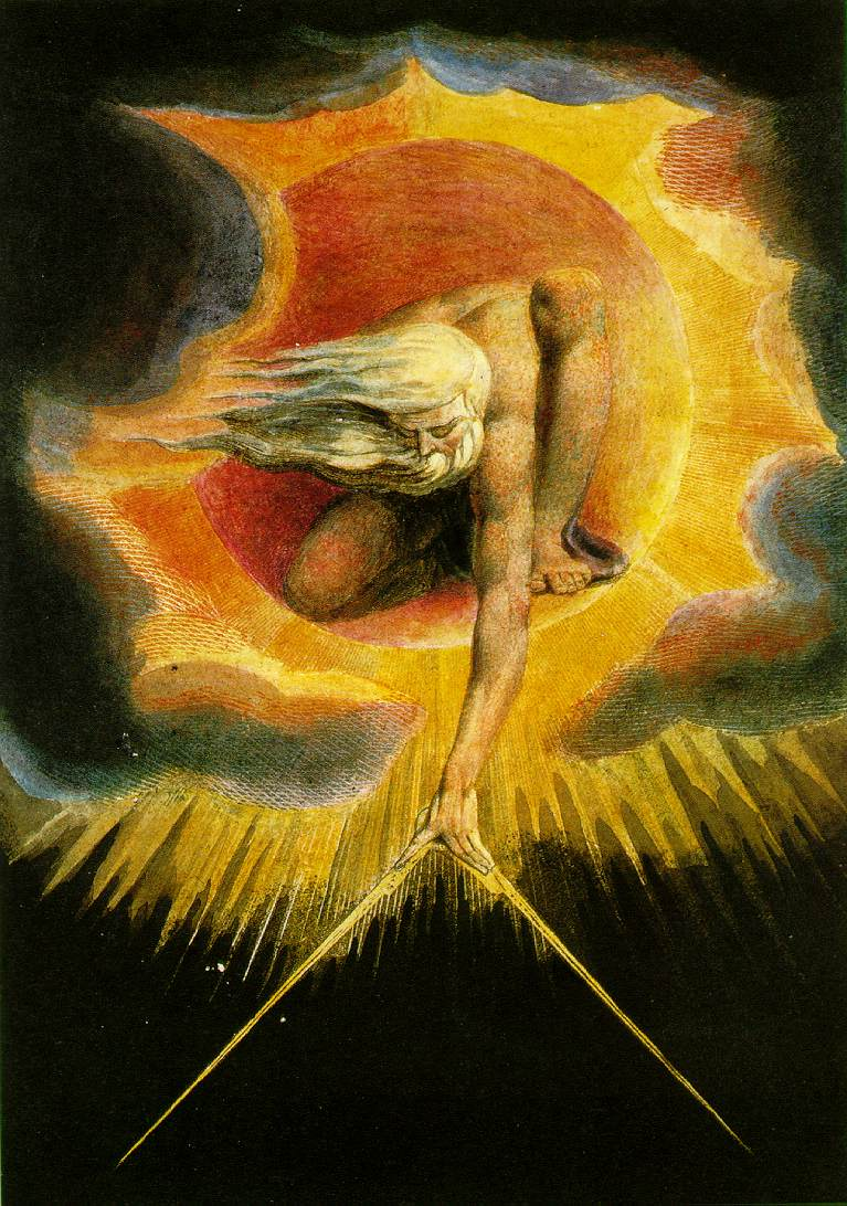 god-creating-the-universe by william blake