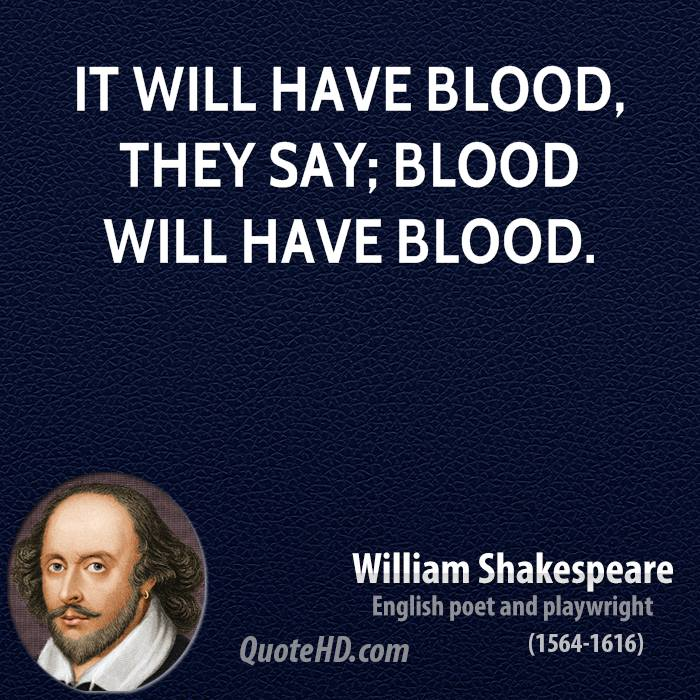 the images of blood and water in macbeth by william shakespeare
