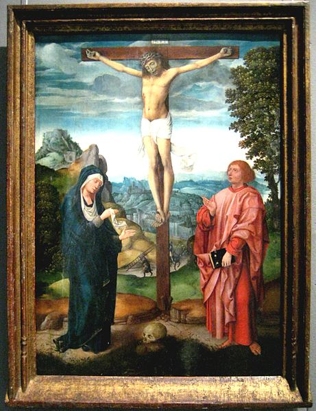 Cross Tau with Jesus, School of Brugge, late 15th or early 16th century