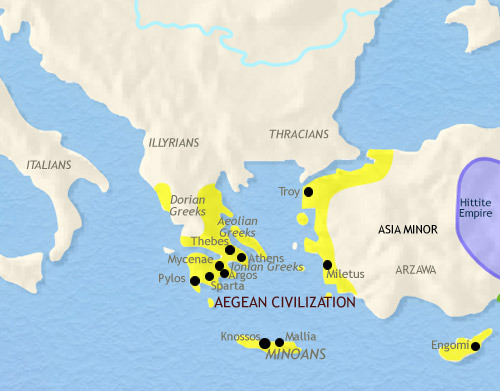 Crete aegean map