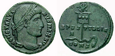 Purple Silk Prostitute Constantine Coin