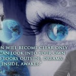 Carl Jung Quote – Who looks outside, dreams; who looks inside, awakes.