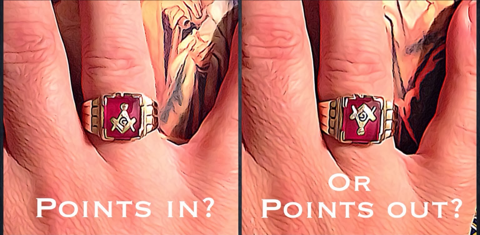 Masonic Rings Points In Or Points Out Gnosis And
