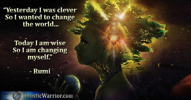 Today I am wise, so I am changing myself