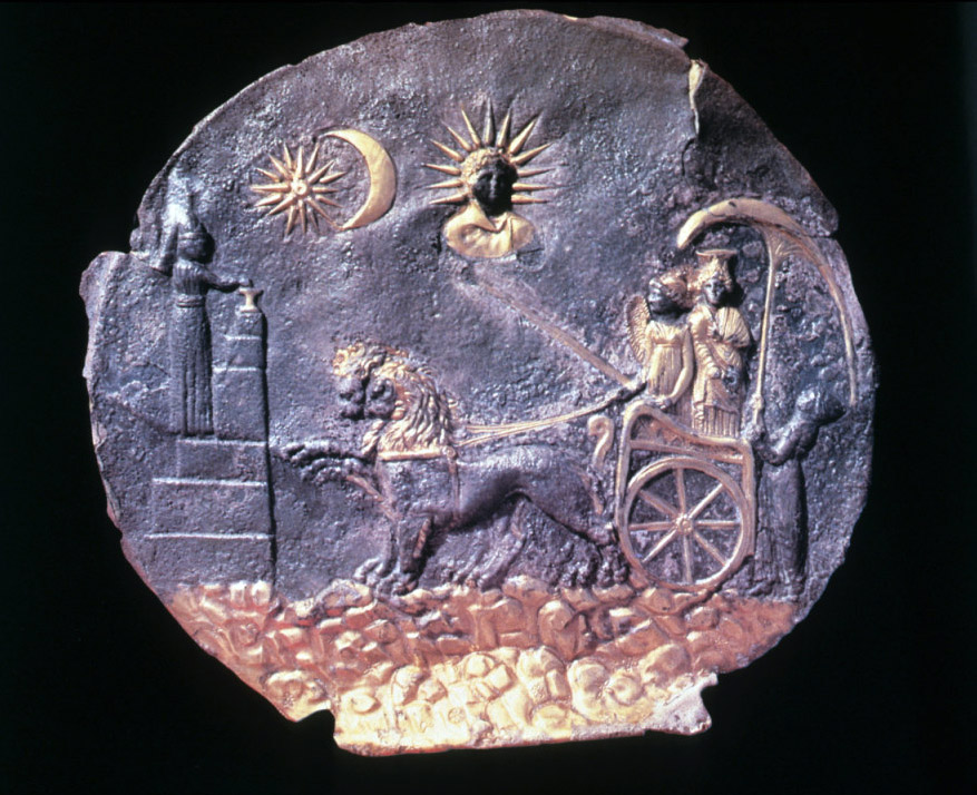Cybele crescent and lions