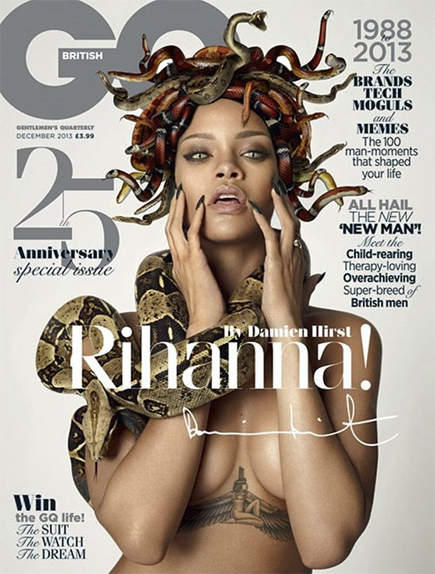Rihanna as Medusa in Damien Hirst's GQ cover shoot.