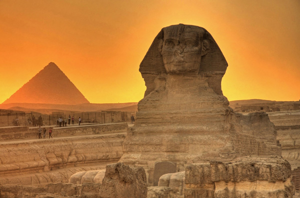 Sphinx sunset
