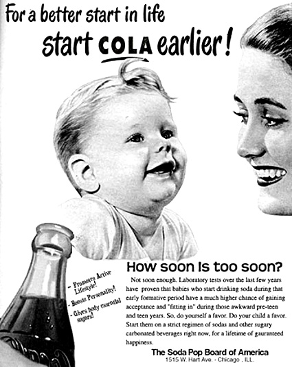 Baby drink cola ad