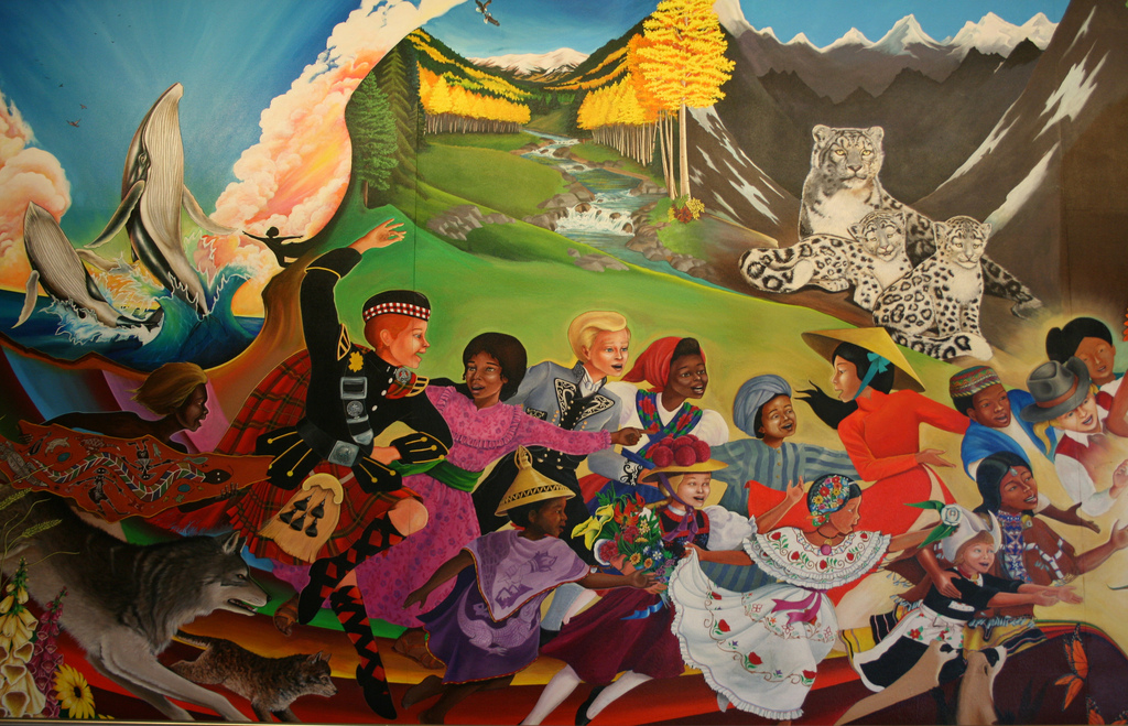 Tribe of the she wolf for Dia mural artist