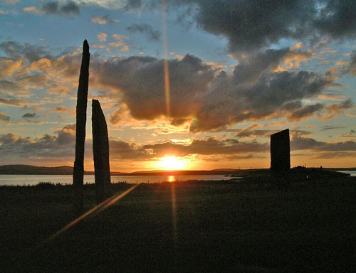 Stone of the Gods - Odin stenness-sunset2