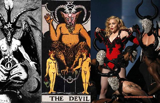 Baphomet horns at the grammys madonna
