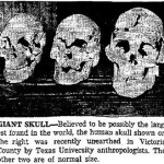 Giant Skull Found in Victoria, Texas