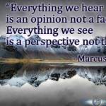 Everything we hear is an opinion, not a fact