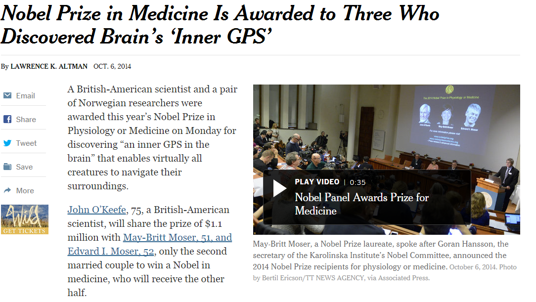 Third eye - Nobel Prize in Medicine Is Awarded