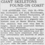 14 Giant Skeletons Over 9 Feet Tall Found at Santa Monica Beach in California