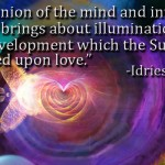 The union of the mind and intuition which brings about illumination