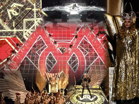 Madonna Super Bowl Fallen Angel Symbolism