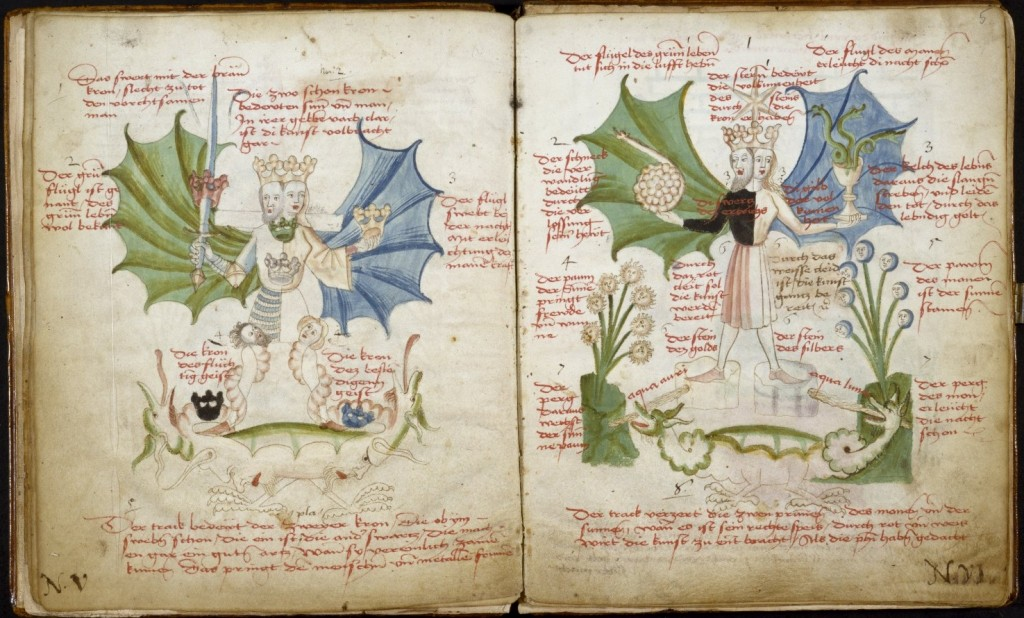 Symbols - Rebi Rebis, Unknown Author - 15th century. From the Rylands Collection, Alchemica