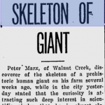 Man Who Discovers Giant Skeleton Refuses to Sell to the Smithsonian Institute