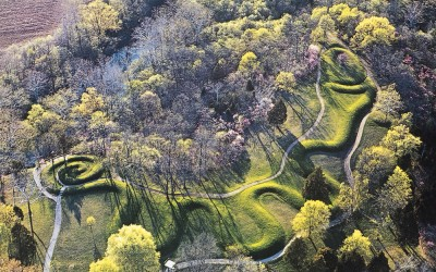 The Great 700 Foot Serpent Mound in Ohio, USA