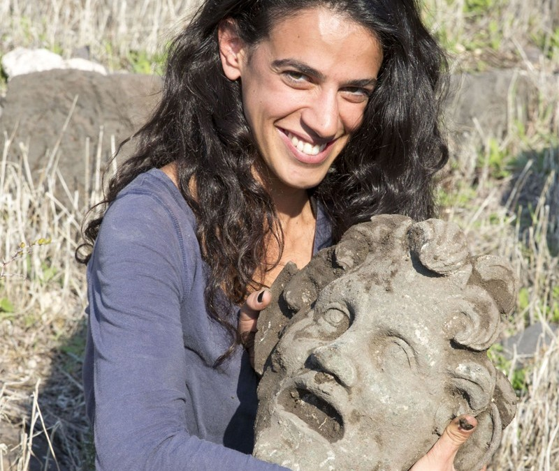 Ancient Mask of the God Pan Found on the Shore of the Sea of Galilee.