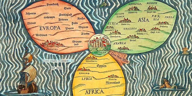 The center of the world gnosis and gnosticism with symbols jerusalem map gumiabroncs Choice Image