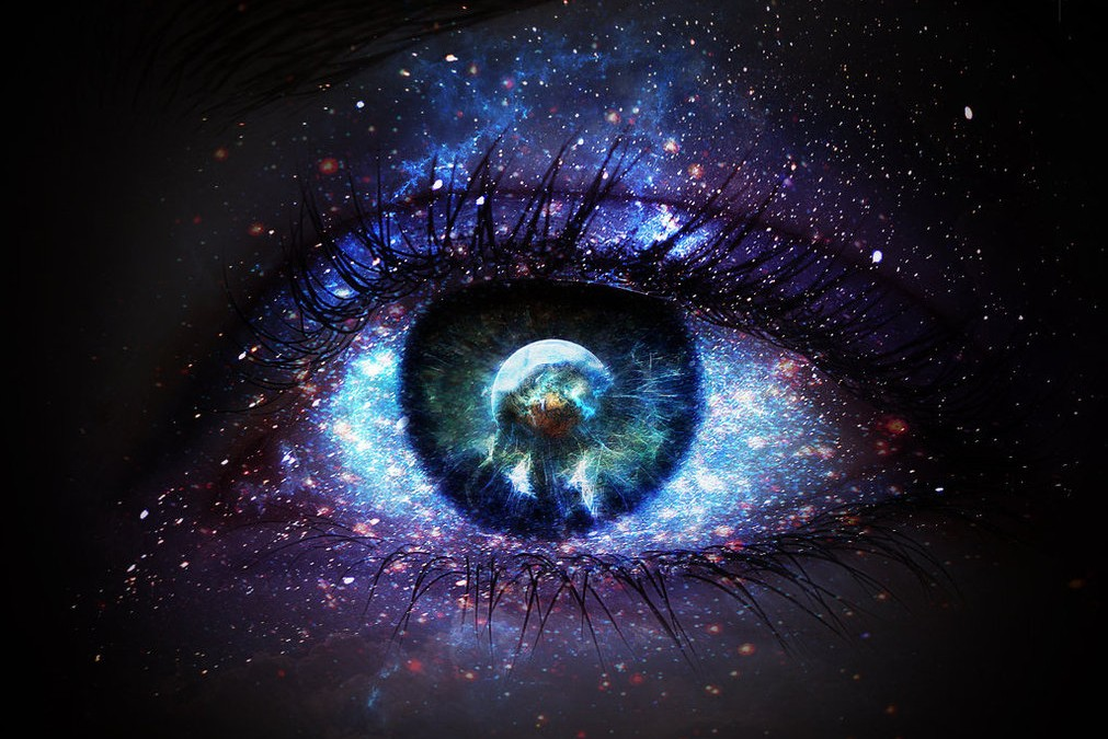 The eye through which I see God is the same eye through which God sees me