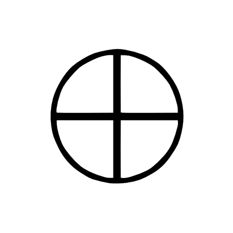 SYMBOLS - CROSS IN CIRCLE