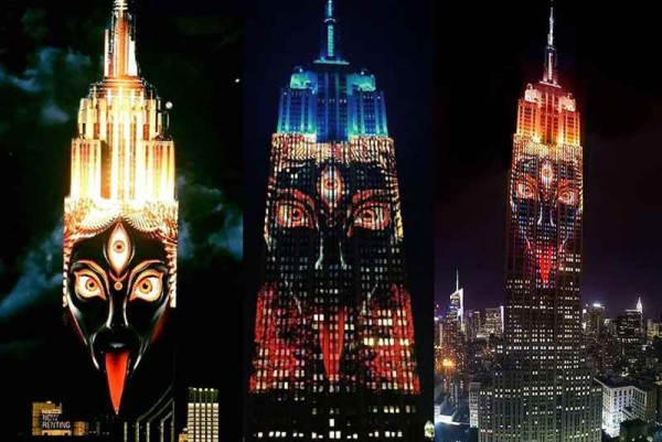 Goddess of Death Kali Projected on Empire State Building