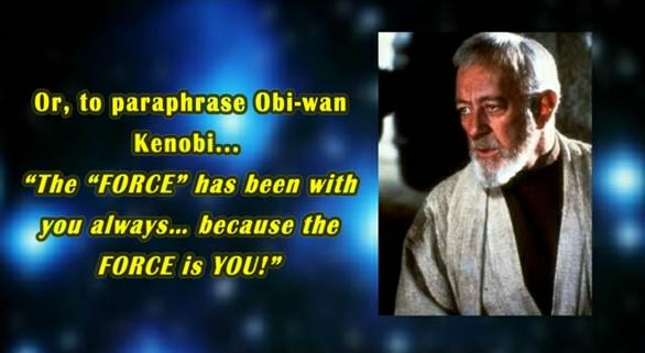 Quote - may the force be with you