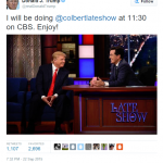 Bro.' Trump: Did Donald Trump flash a Masonic hand sign on the Colbert Late Show?