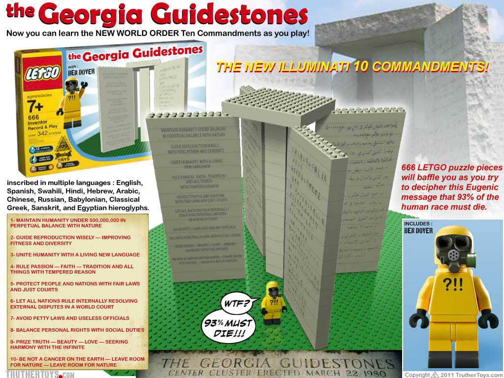 The Illuminati Georgia Guidestones 666 Letgo Puzzle Pieces
