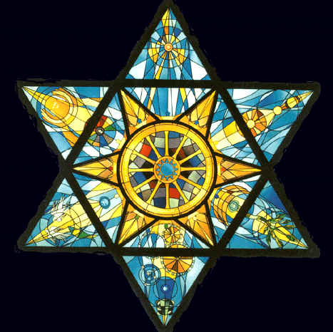 star of david on window