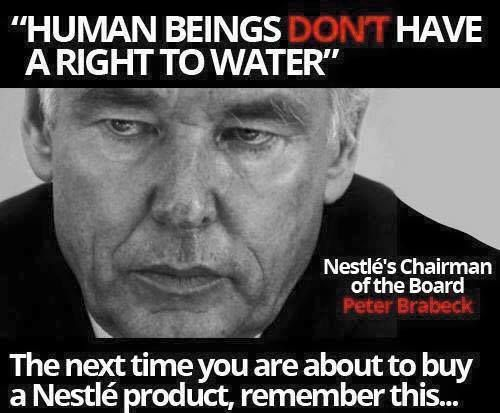 Nestle CEO water not a human right