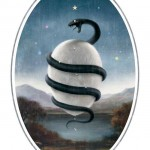 The Serpent entwined round an [Orphic] Egg referred to the creation of the Universe