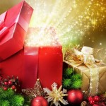 A Christmas present is a symbol