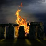 The festival of the 25th of December, was celebrated by the Druids in Britain and Ireland with great fires