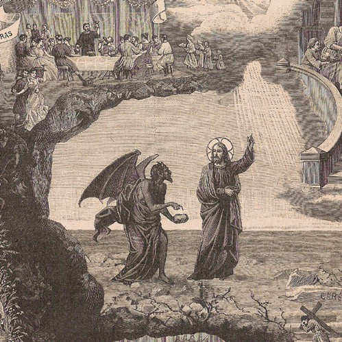 Christ and lucifer