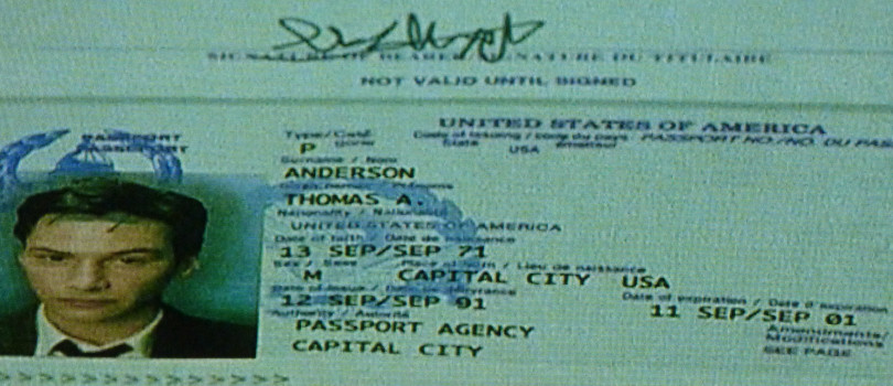 The Gnostic Neo's Passport in the Matrix Expired On September 11, 2001