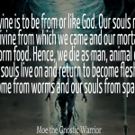 For we come from worms and our souls from space